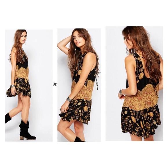 3384c604615b Free People Dresses & Skirts - Free People Dobby Dot Print Flouncy Hem Slip  Dress